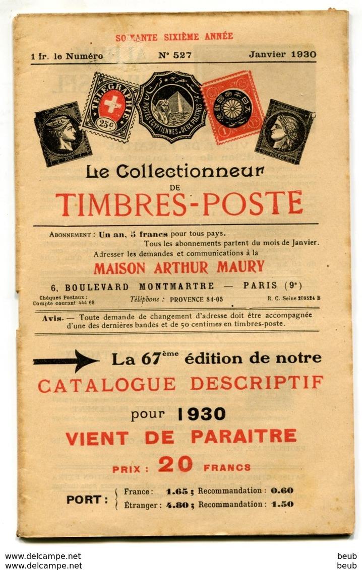 Le Collectionneur De Timbres-Poste De A. Maury - Années 1927/1933 (54 Fascicules) Du N° 505 Au N° 560 (sf 516 Et 559) - Magazines