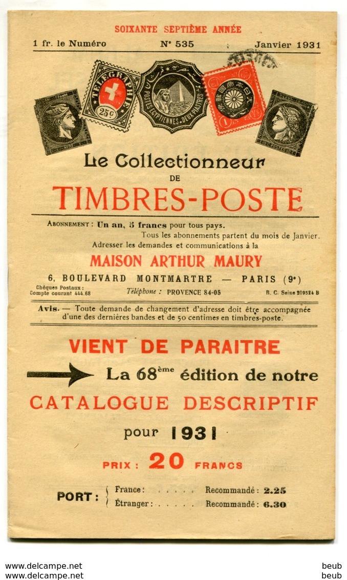 Le Collectionneur De Timbres-Poste De A. Maury - Années 1927/1933 (54 Fascicules) Du N° 505 Au N° 560 (sf 516 Et 559) - Français (jusque 1940)