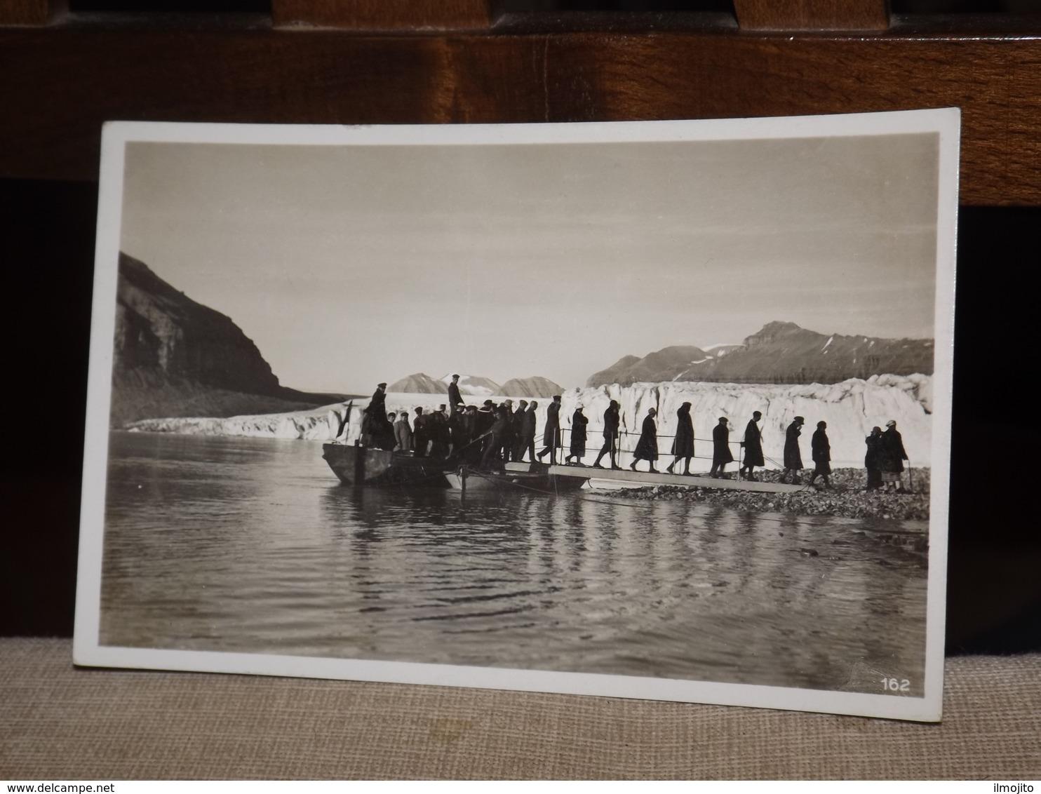 POSTCARD NORGE SVALBARD SPITZBERGEN TEMPELBUGTEN TEMPELBUCHT LANDGANG AK CPA - Norway