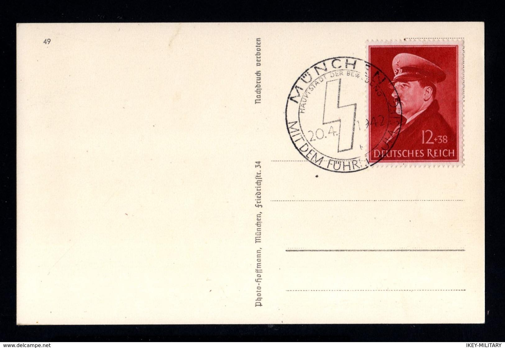 17211-GERMAN EMPIRE-PROPAGANDA POSTCARD ADOLF HITLER.WWII.,Hoffmann.DEUTSCHES REICH.POSTKARTE.Carte Postale - Briefe U. Dokumente