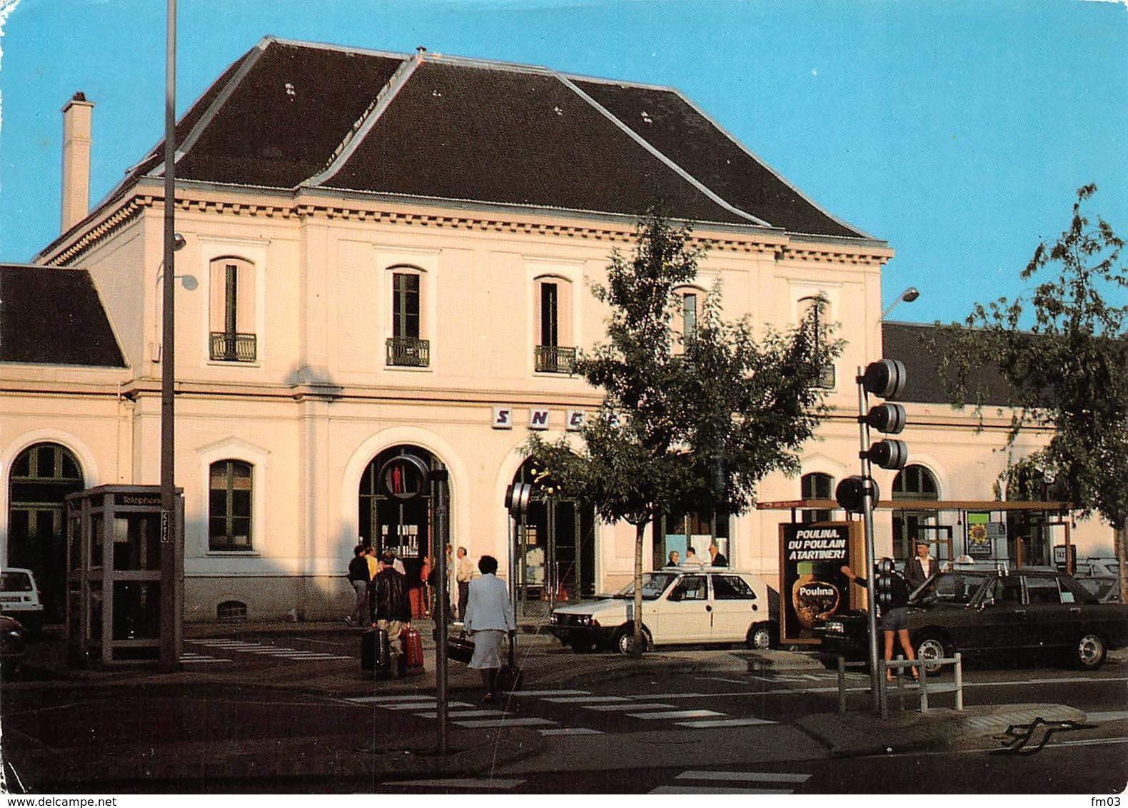 Roanne Gare Voitures Pub Chocolat Poulain - Roanne