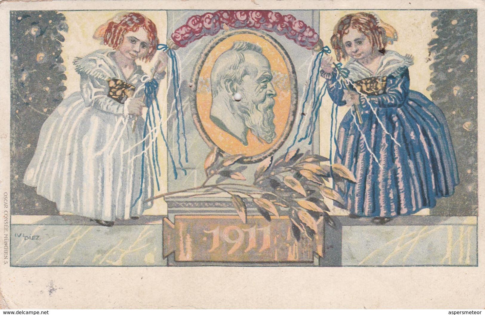 LEOPOLD II 1911 ENTIER KONIGREICH BAYERN POSTKARTE OBLITEREE MUENCHEN 1911 - BLEUP - Deutschland