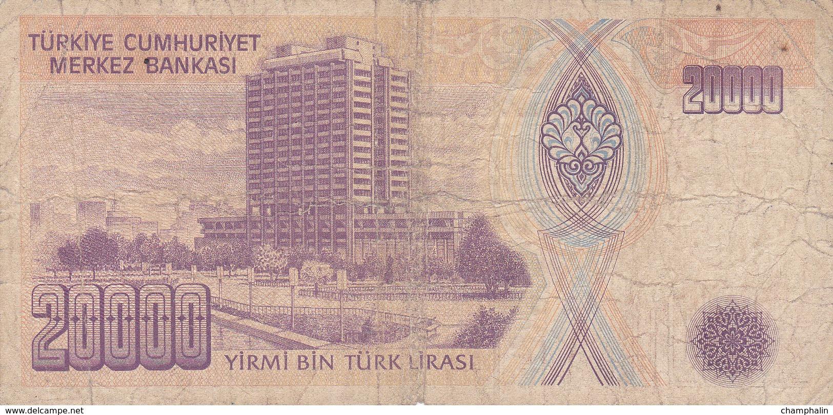 Turquie - Billet De 20000 Lira - 14 Janvier 1970 - Turchia