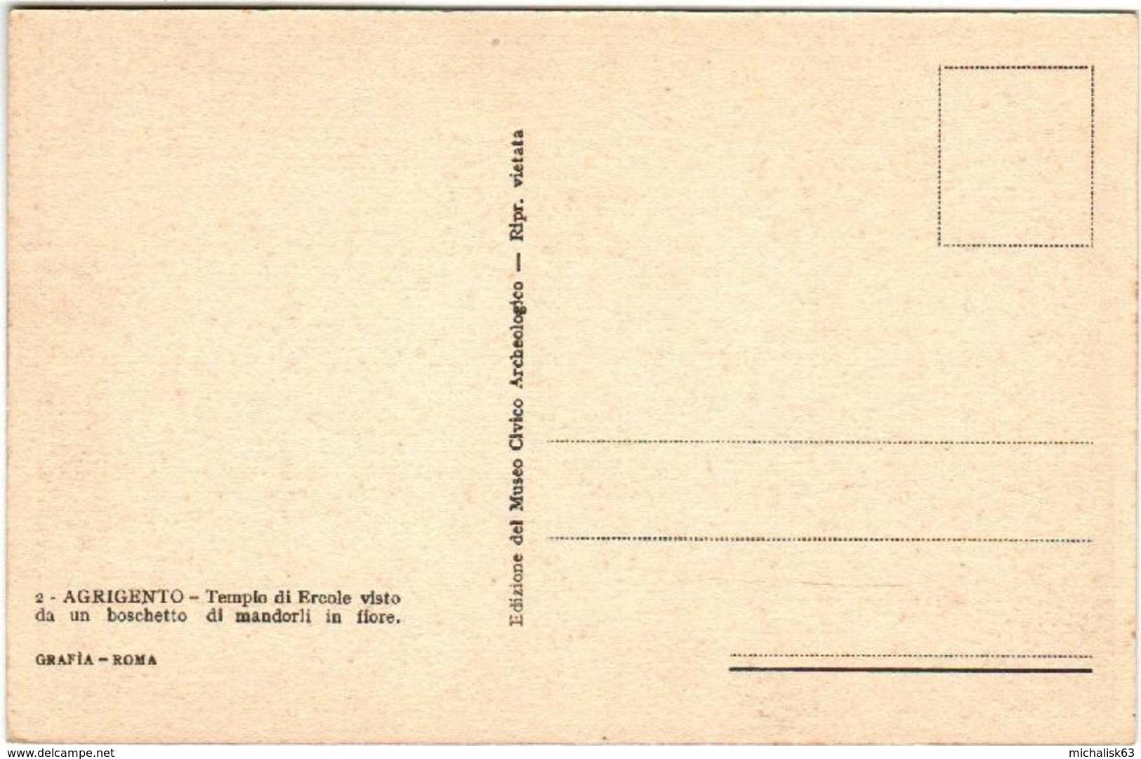 61io 47  CPA - AGRIGENTO - TEMPIO DI ERCOLE - Agrigento