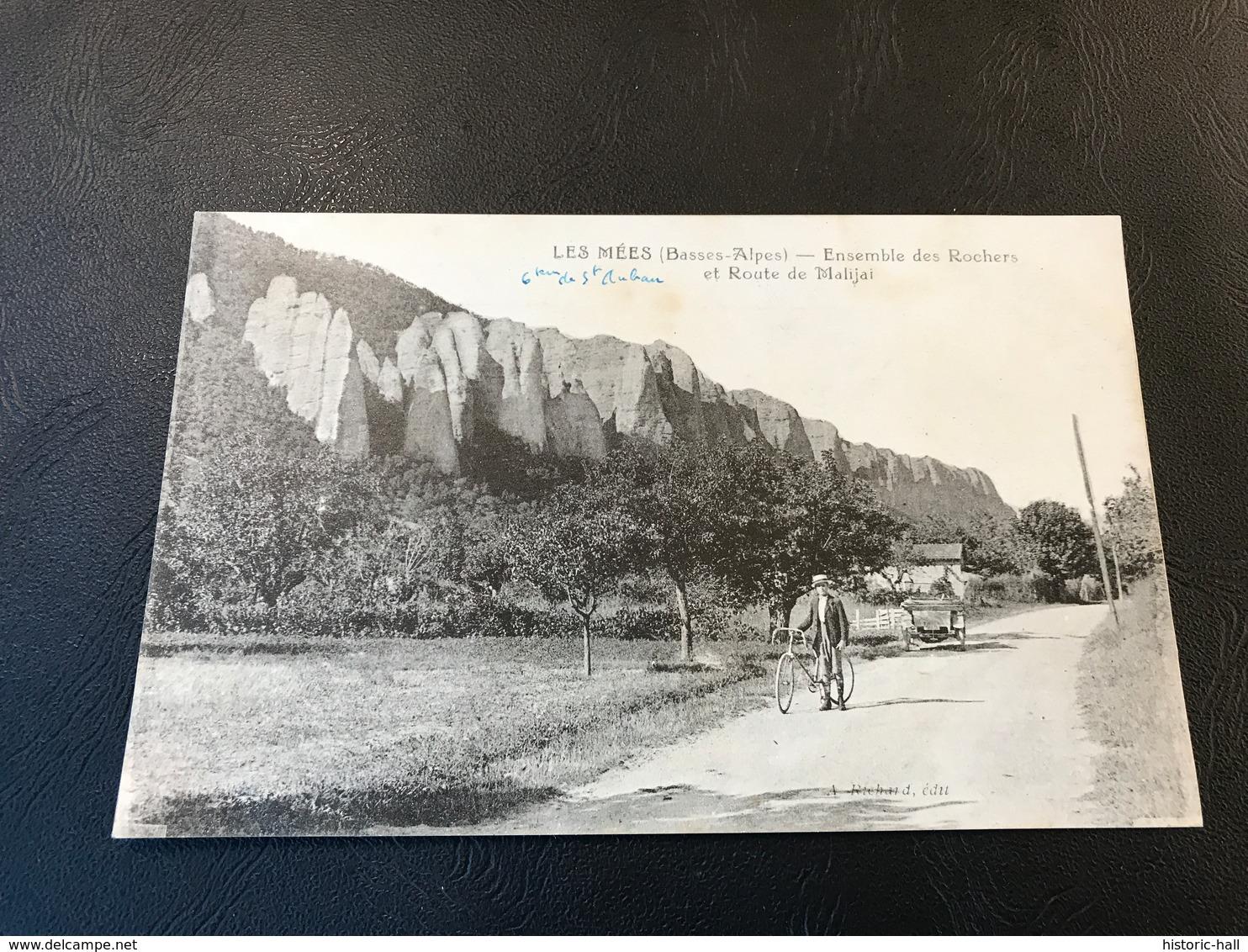LES MEES Ensemble De Rochers Et Route De Malijai - 1923 - Autres Communes