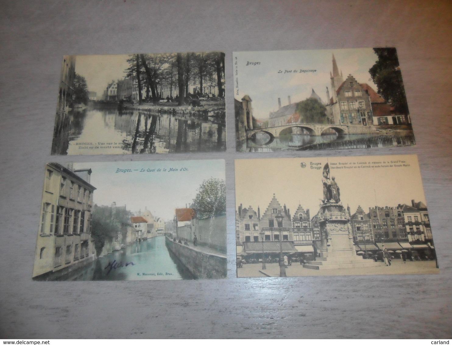 Beau Lot De 60 Cartes Postales De Belgique  Bruges      Mooi Lot Van 60 Postkaarten Van België  Brugge - 60 Scans - Cartes Postales