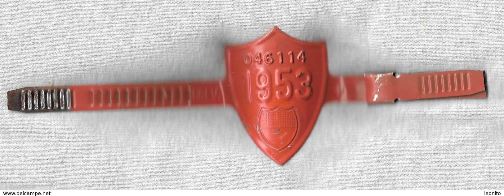 Velonummer Fribourg FR 53 (Original-Rahmennummer) - Kennzeichen & Nummernschilder
