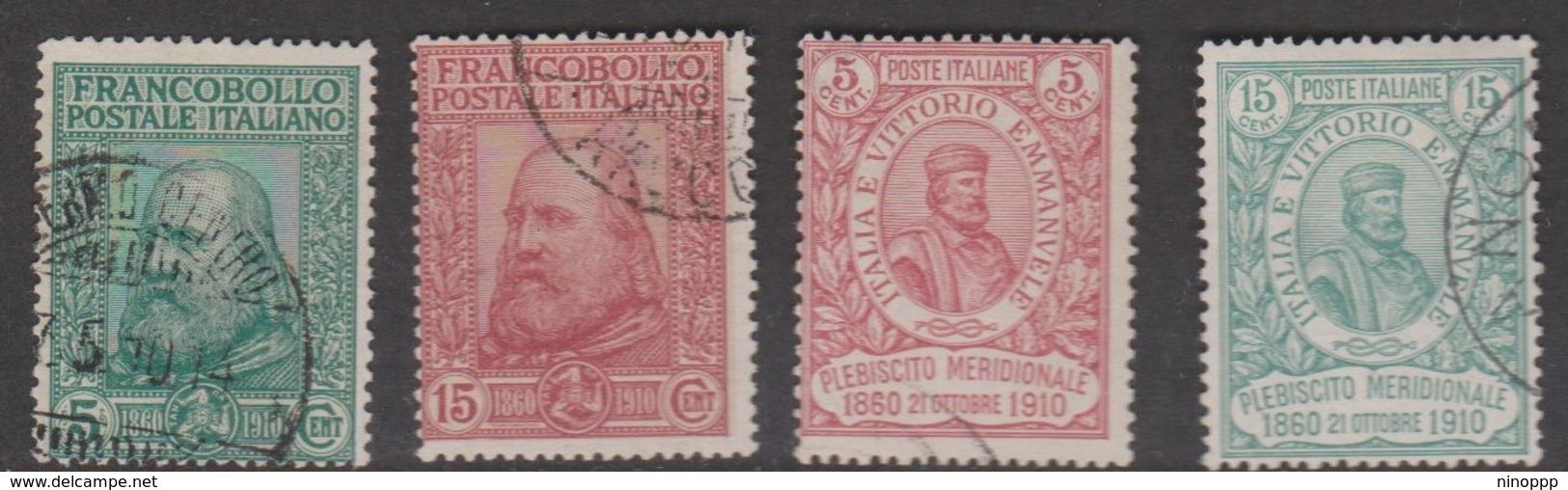 Italy S 87-90 1910 50th Anniversary Of Plebiscite And Freedom Of Sicily, Used - 1900-44 Vittorio Emanuele III