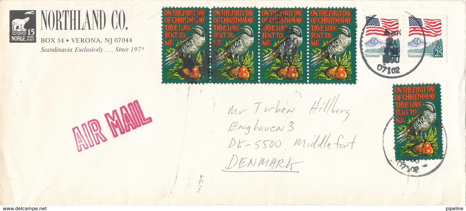 USA Cover Sent To Denmark 20-4-1990 - Etats-Unis