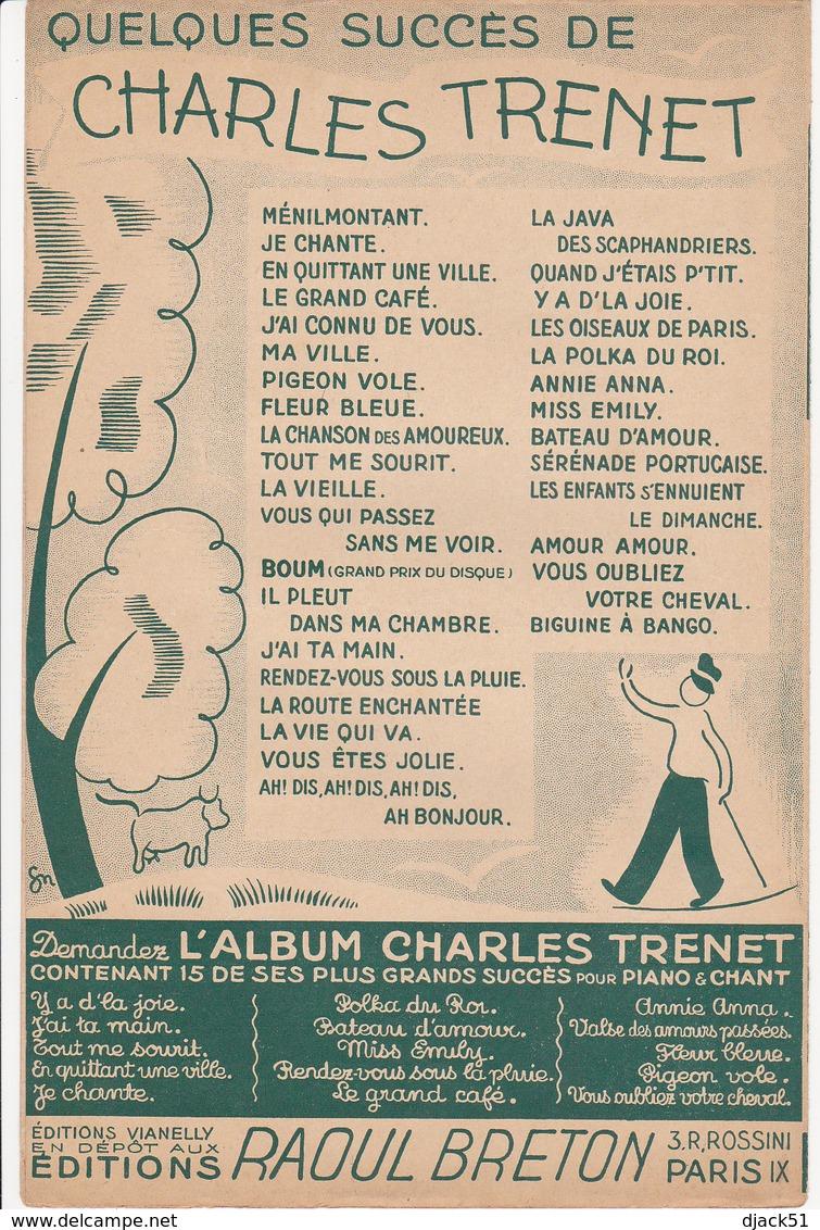 Partition Musique / LA ROUTE ENCHANTEE / CHARLES TRENET / Film : La Route Enchantée / Editions Raoul Breton - Musique & Instruments