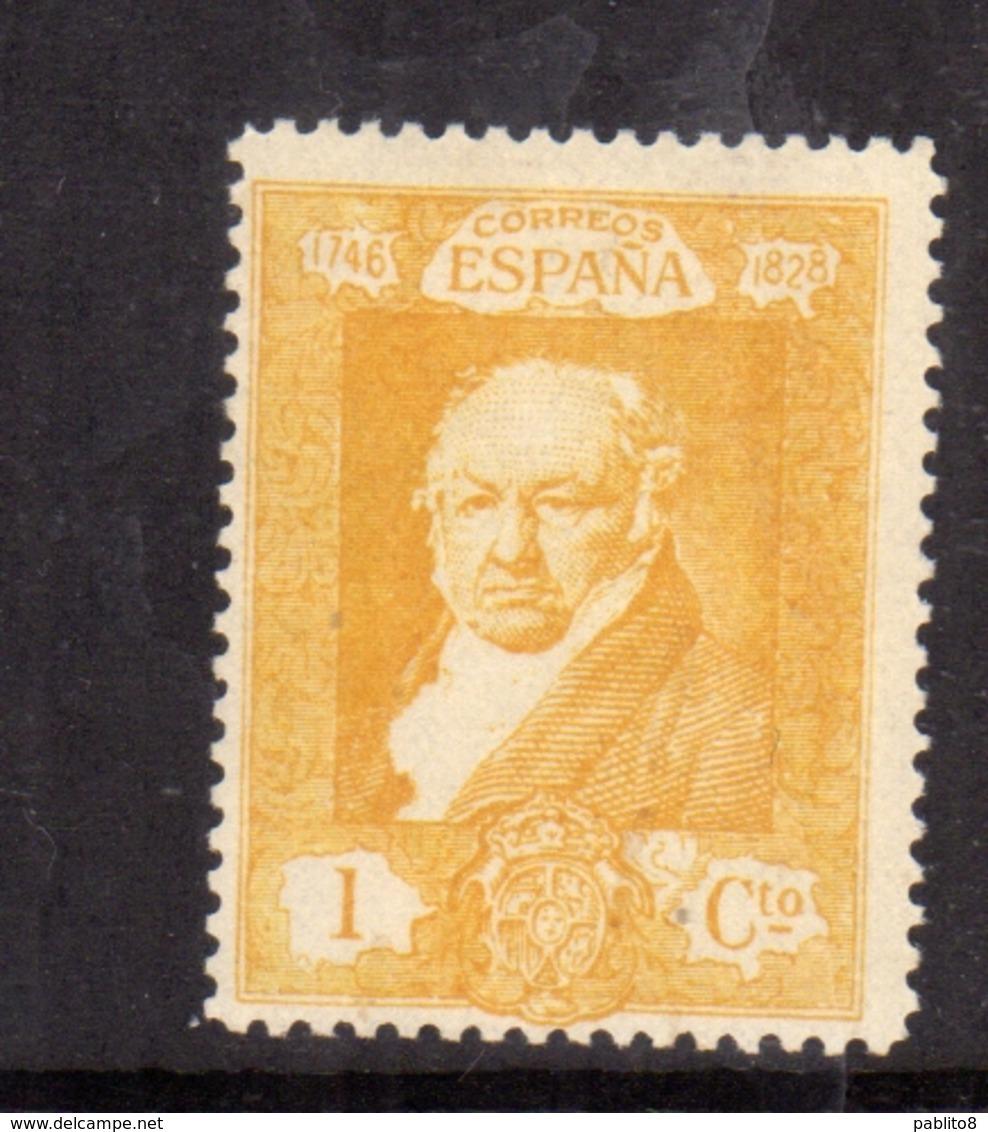 SPAIN ESPAÑA SPAGNA 1930 FRANCISCO GOYA CENT. 1c MLH - Nuovi