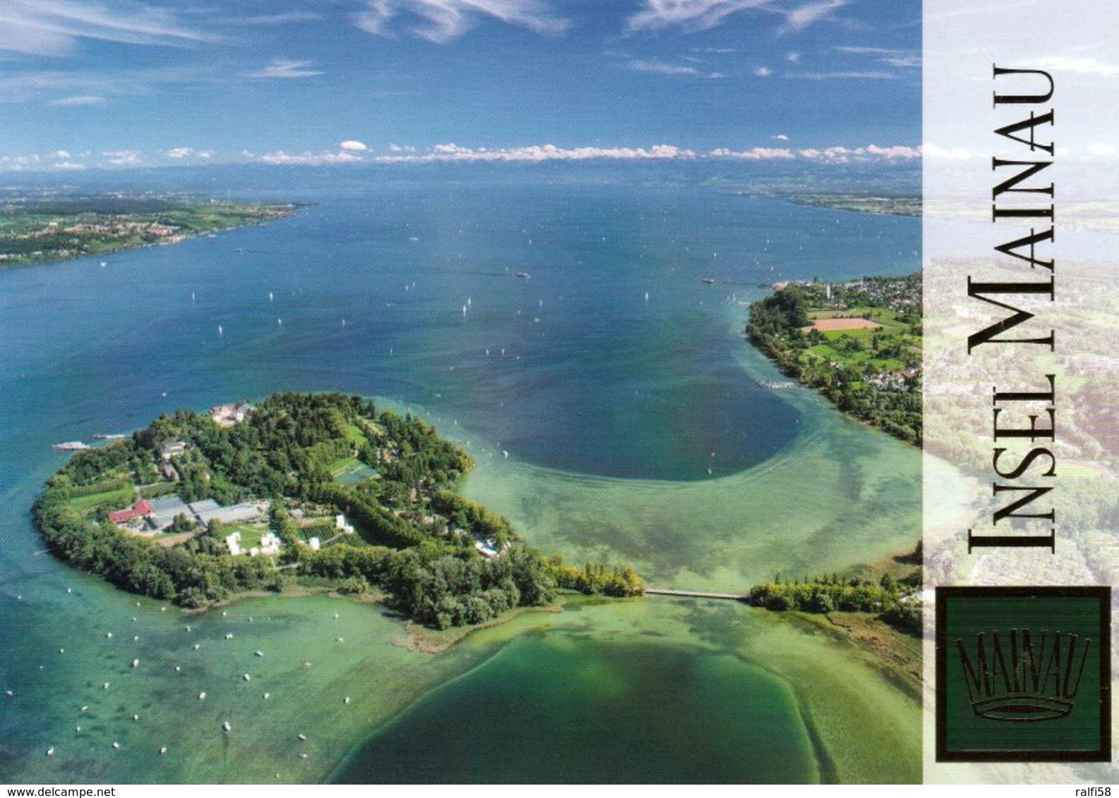 1 AK Germany Baden-Württemberg * Blick Auf Die Insel Mainau - Luftbildaufnahme * - Konstanz