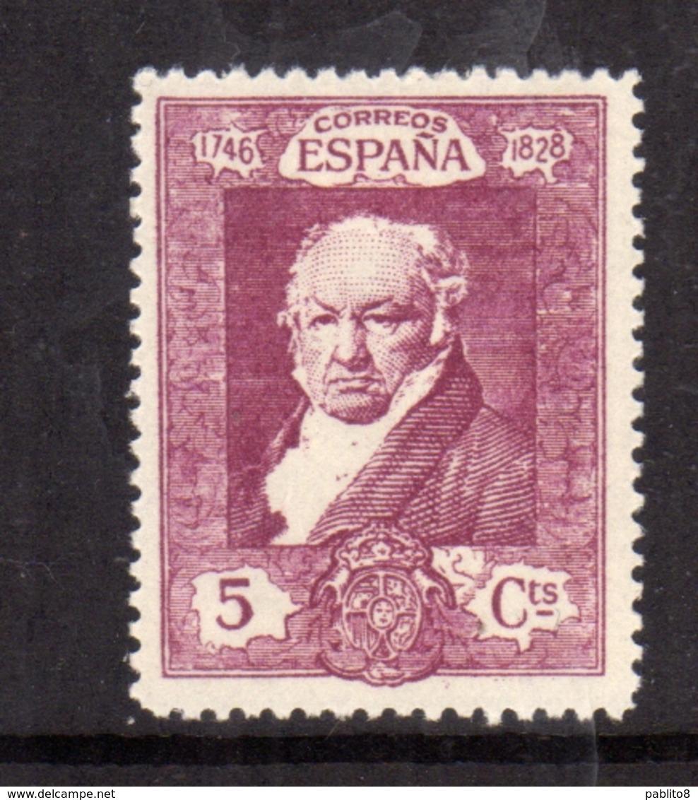 SPAIN ESPAÑA SPAGNA 1930 FRANCISCO GOYA CENT. 5c MLH - 1889-1931 Regno: Alfonso XIII