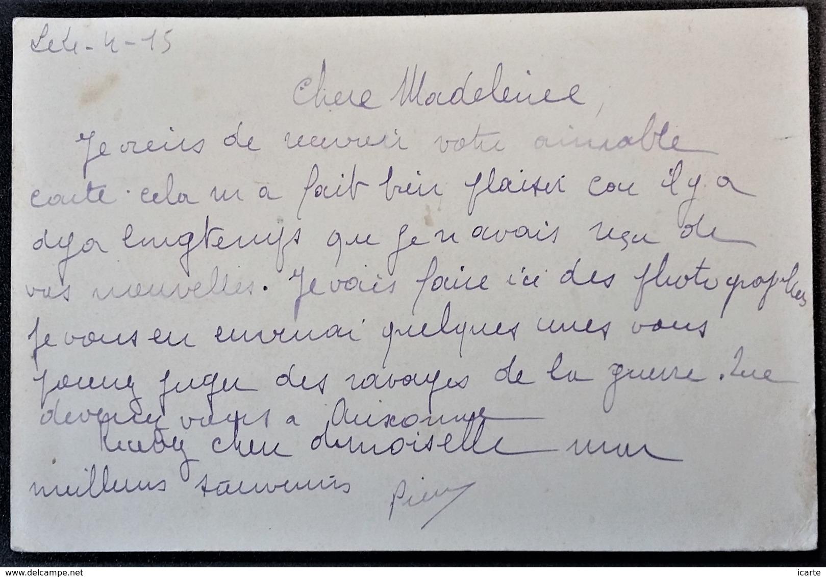 Carte De Franchise Militaire 4 Drapeaux Simili Timbre FM Du 10e Génie Vers Auxonne Avril 1915 - Marcophilie (Lettres)