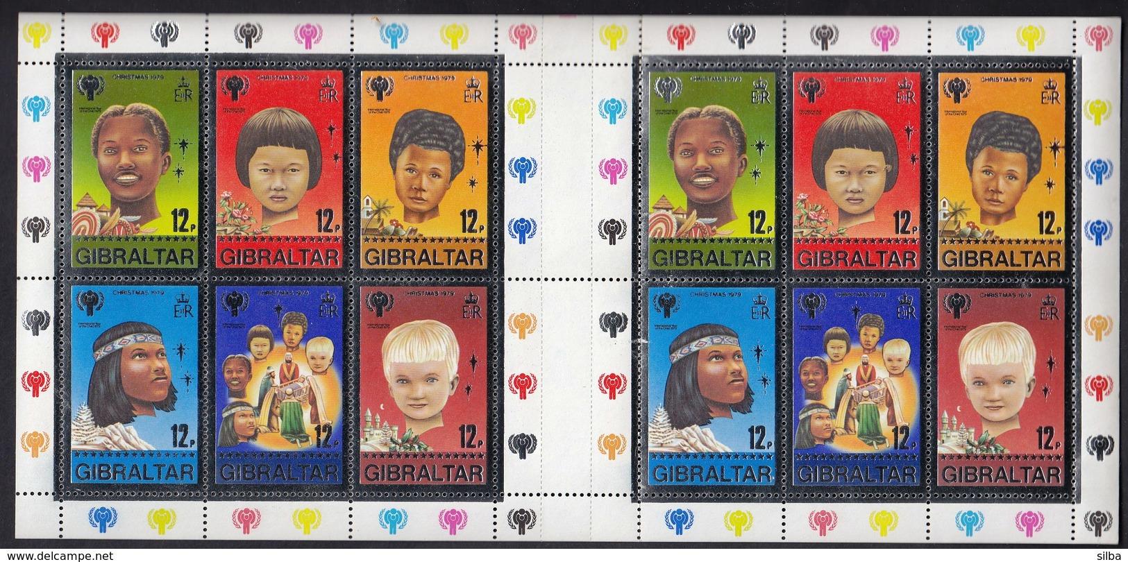 Gibraltar 1979  / Jahr Des Kindes, International Year Of The Child / Mi Bl. 6 / MINT Sheet - Childhood & Youth