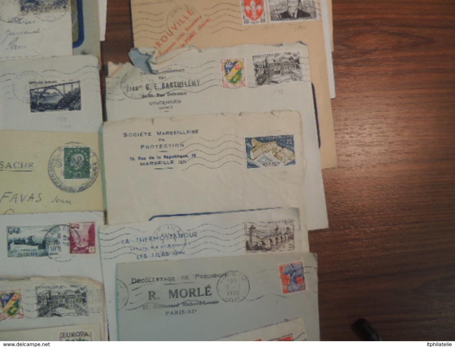 AFFAIRE LOT DE 50 LETTRES ENVIRON    FRANCE   QQ BEAUX AFFRANCHISSEMENTS BON A TRES BON ETAT GENERAL - Marcophilie (Lettres)