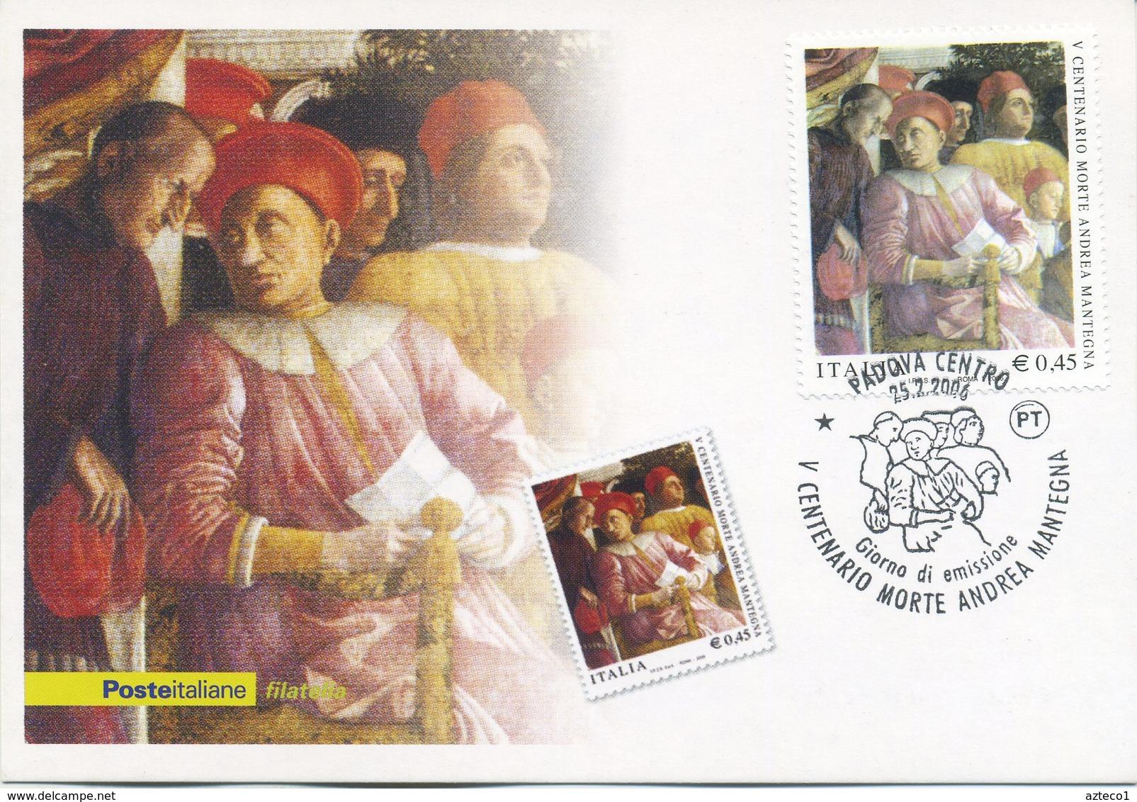 ITALIA - FDC MAXIMUM CARD 2006 - ANDREA MANTEGNA - ARTE - ANNULLO SPECIALE PADOVA - Maximumkarten (MC)