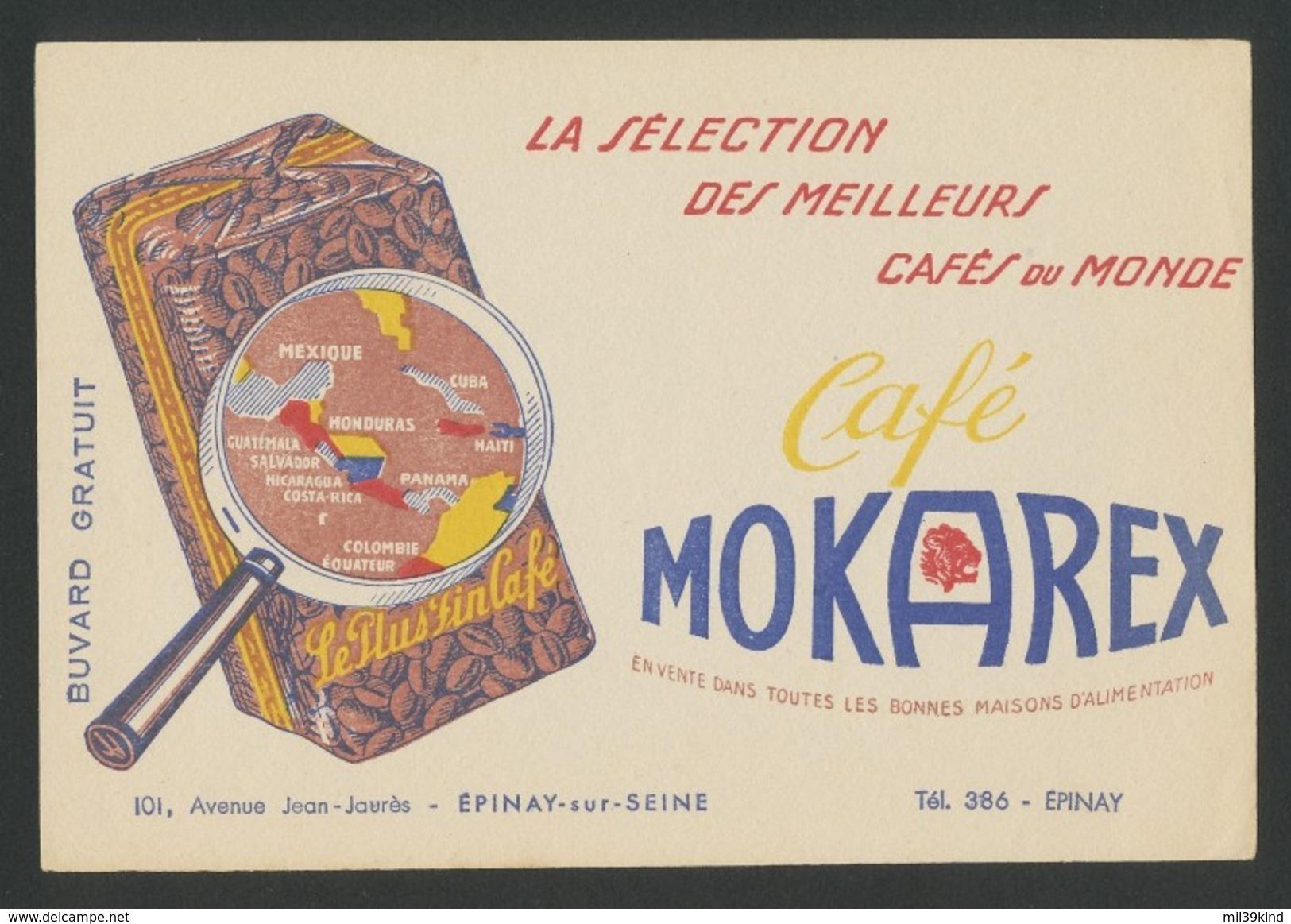 Buvard - MOKAREX - MEILLEURS CAFES DU MONDE - Carte Assorbenti
