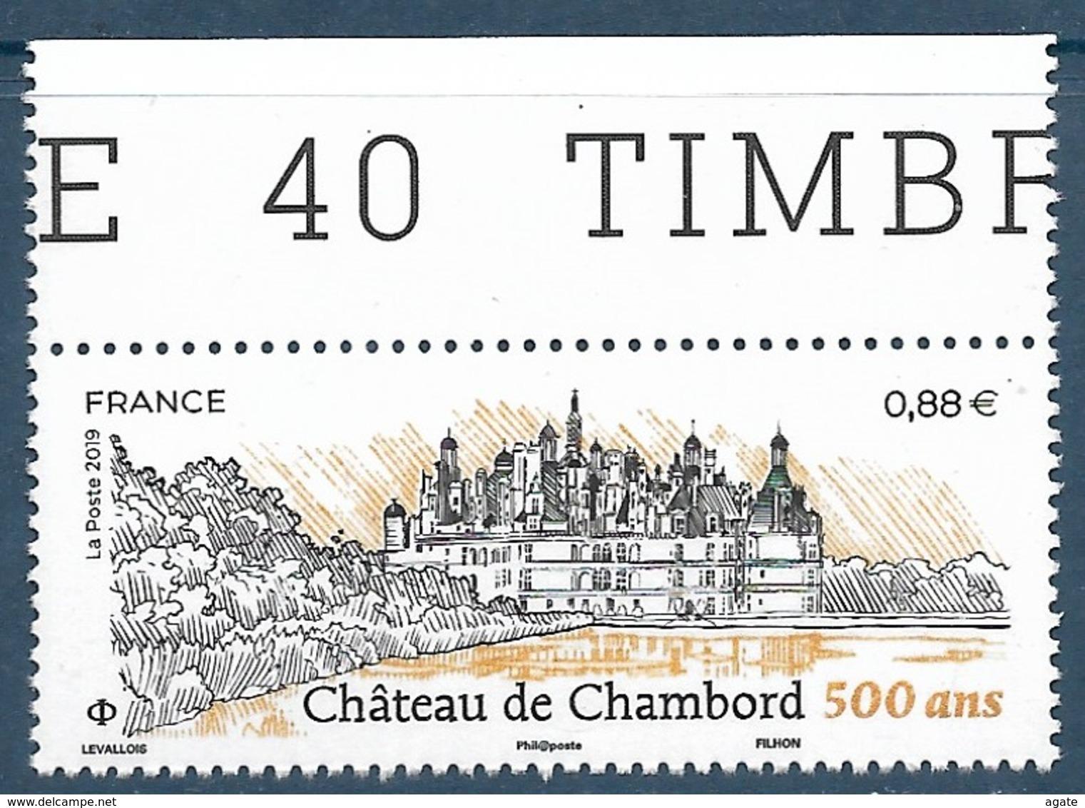 Chäteau De Chambord - 500 Ans BDF (2019) Neuf** - France