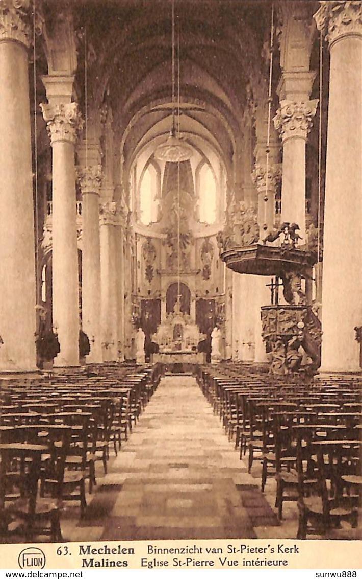 Malines - Mechelen -  Binnenzicht Van St-Pieter's Kerk ( P J Flion) - Malines