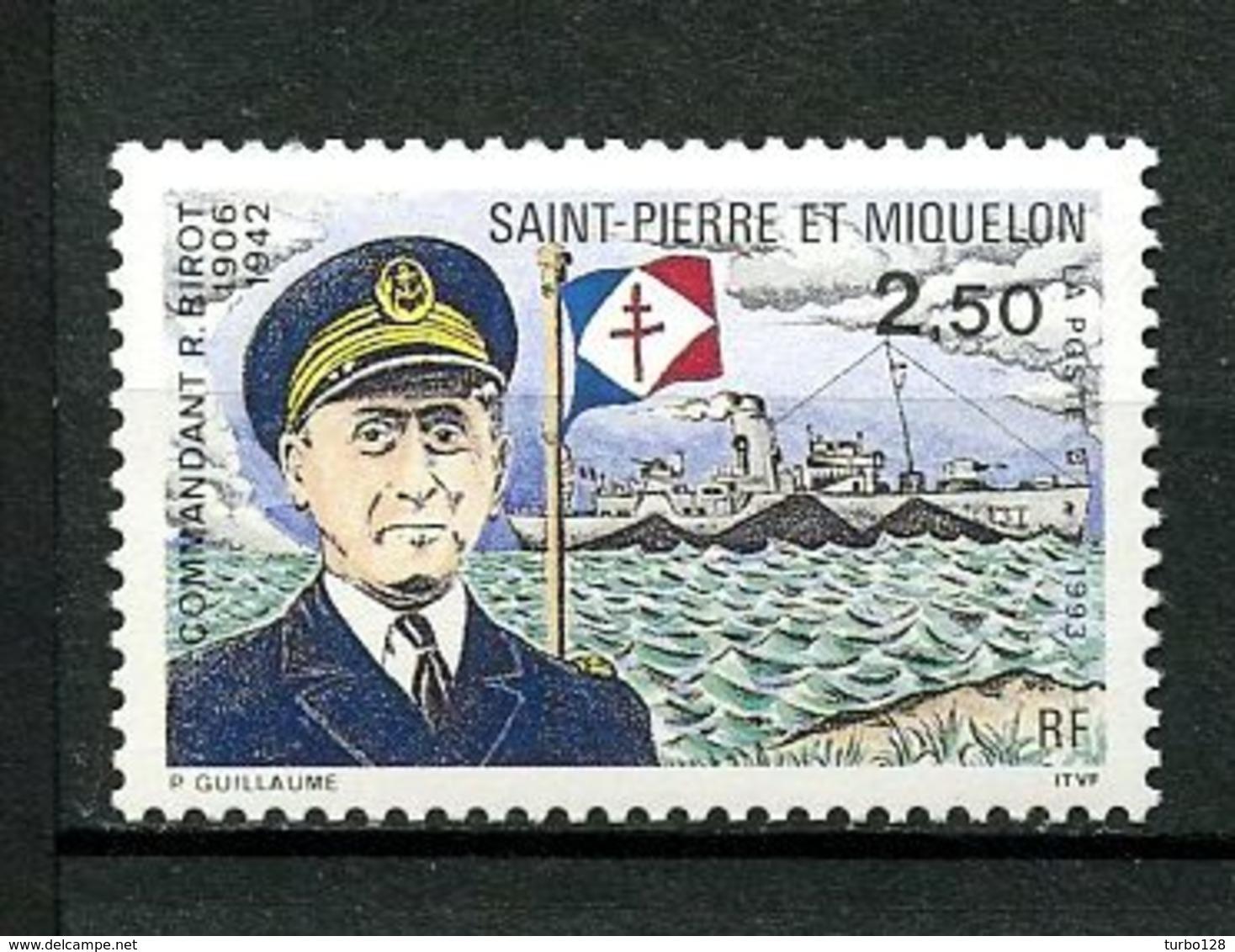 SPM MIQUELON 1993  N° 573 ** Neuf  MNH Superbe C 1.65 €  Bateaux Boats Ships Commandant BIROT - Neufs