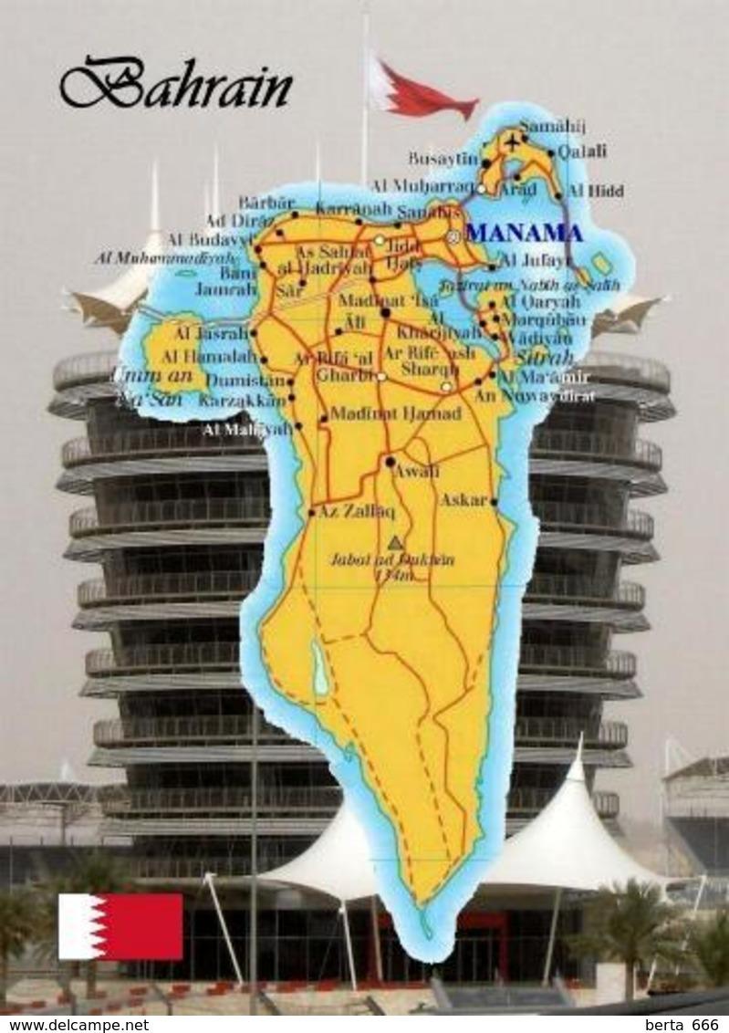 Bahrain Country Map New Postcard Landkarte AK - Bahrein