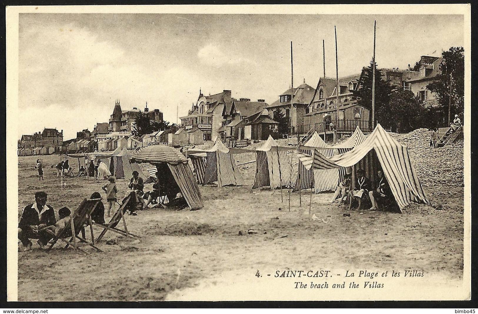 CPA-FRANCE--SAINT-CAST--LA PLAGE ET LES VILLAS - Saint-Cast-le-Guildo
