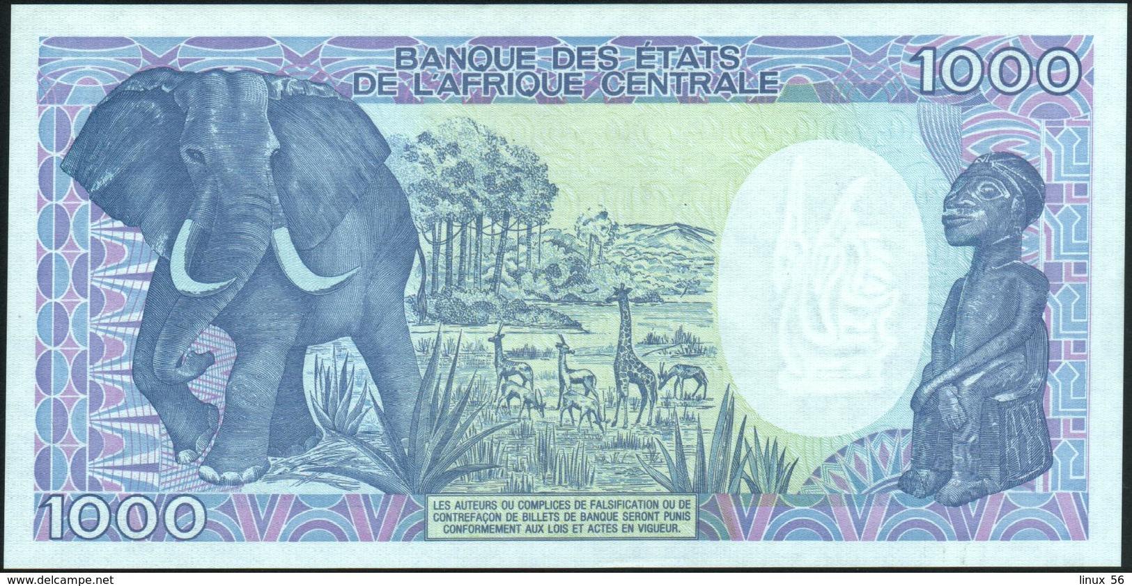 GABON - 1.000 Francs 01.01.1991 AU-UNC P.10 B - Gabon