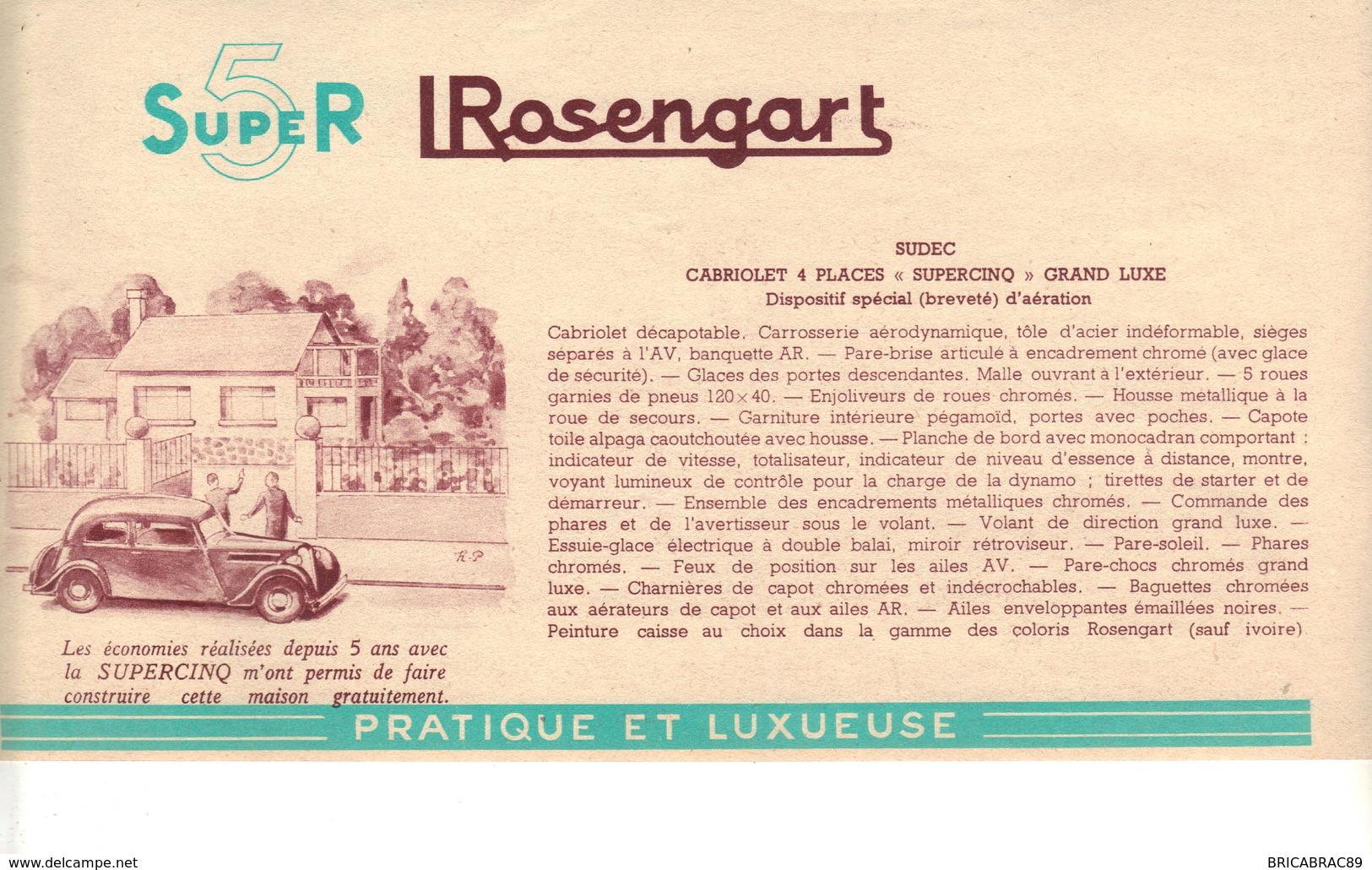 Illustration   L ROSENGART  La Supercinq Est Une Voiture Complète. -    SUROD  - - Advertising