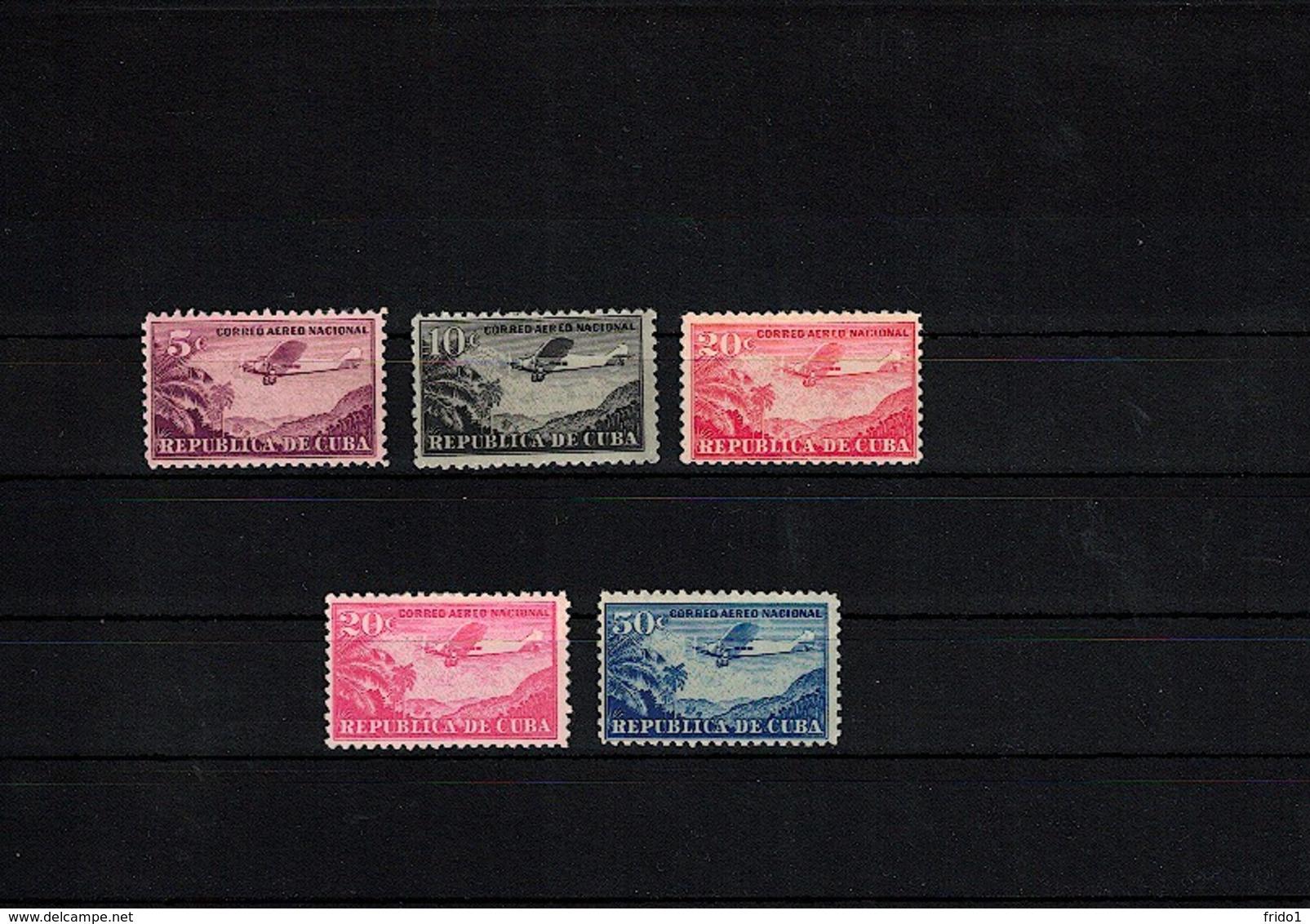 Cuba 1931 Airmail Stamps MH / Postfrisch Mit Falz - Kuba