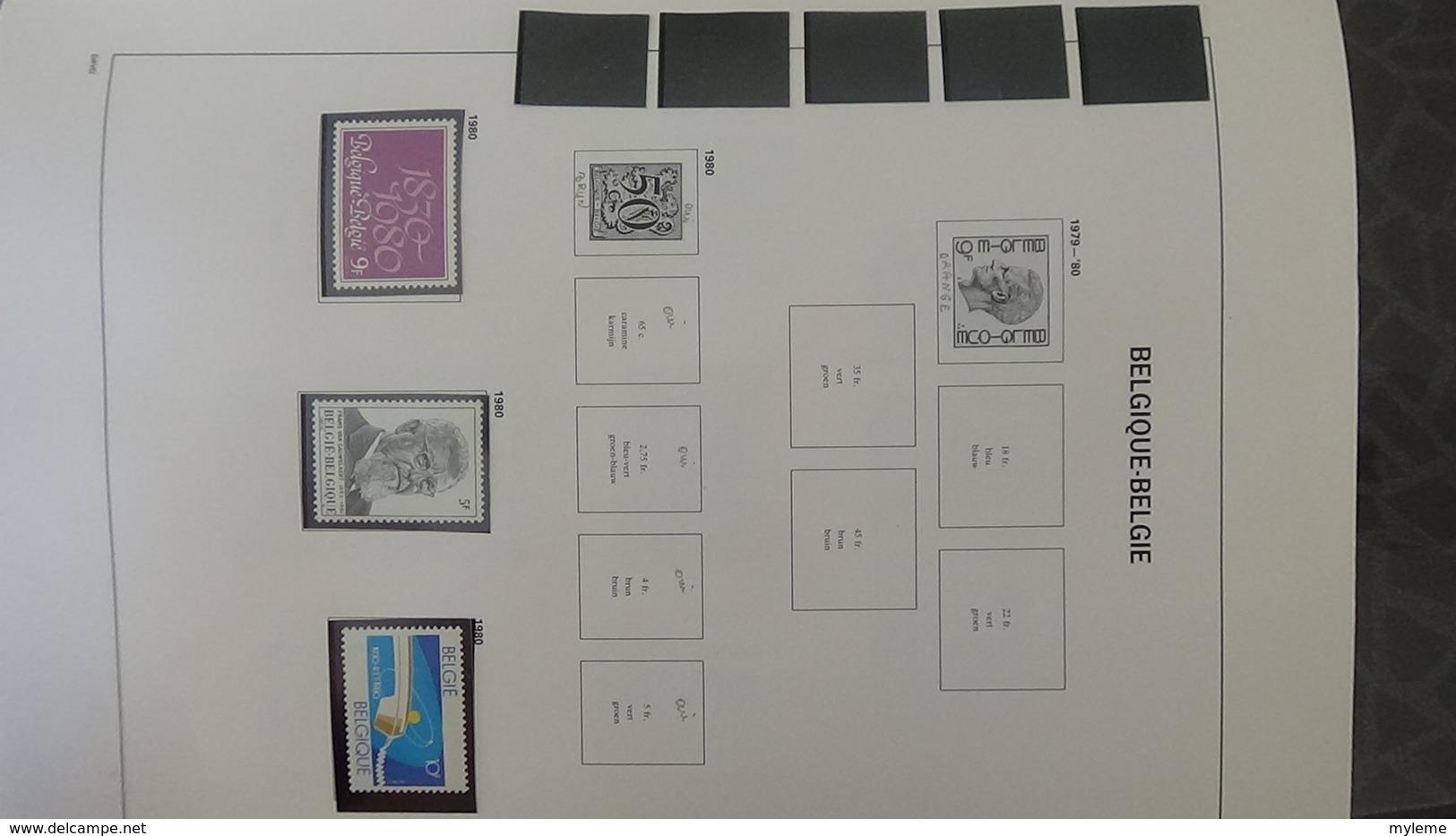 Grosse Collection BELGIQUE En DAVO De 1971 à 1984 En Blocs, Carnets Et Timbres ** . Bien Suivie A Saisir !!! - Stamps