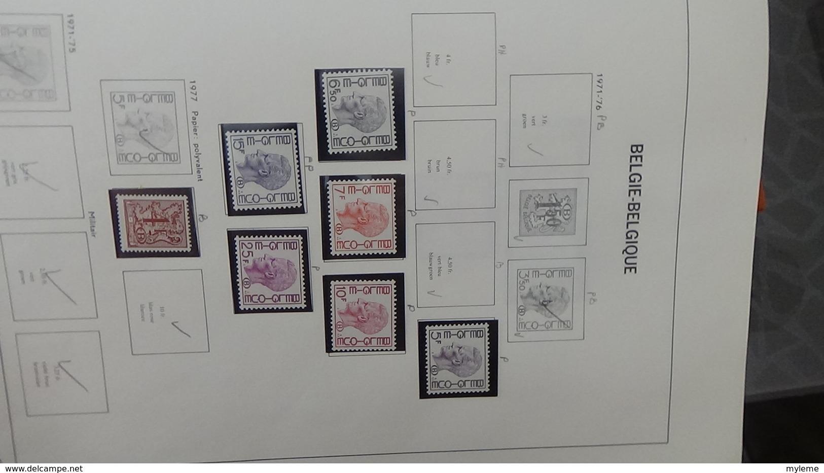 Grosse Collection BELGIQUE En DAVO De 1971 à 1984 En Blocs, Carnets Et Timbres ** . Bien Suivie A Saisir !!! - Timbres