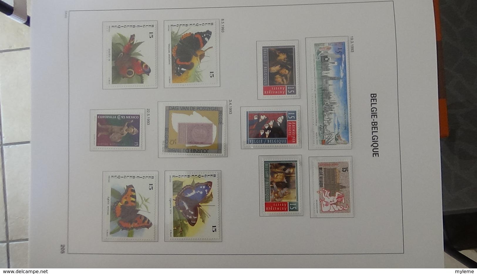 Grosse Collection BELGIQUE En DAVO De 1985 à 1998 En Blocs, Carnets Et Timbres ** . Bien Suivie A Saisir !!! - Collections (with Albums)