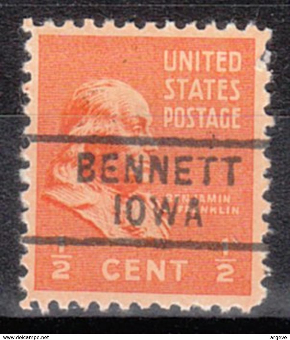 USA Precancel Vorausentwertung Preo, Locals Iowa, Bennett 729 - Vereinigte Staaten