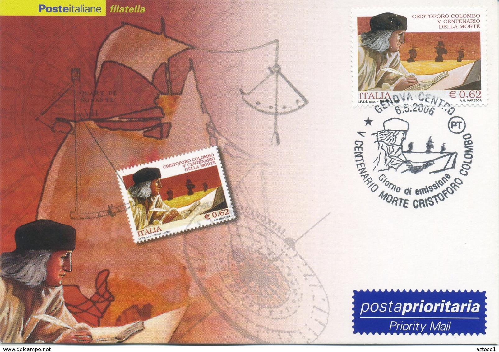 ITALIA - FDC MAXIMUM CARD 2006 - CRISTOFORO COLOMBO - ANNULLO SPECIALE GENOVA - Maximumkarten (MC)