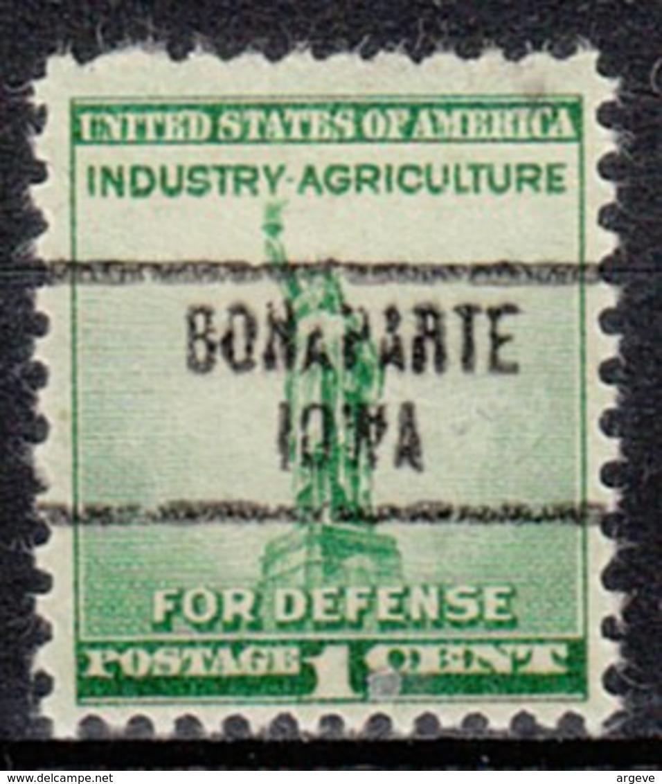 USA Precancel Vorausentwertung Preo, Locals Iowa, Bonaparte 734 - Vereinigte Staaten