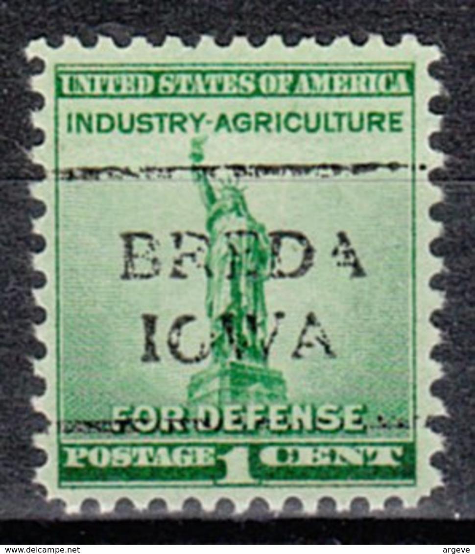 USA Precancel Vorausentwertung Preo, Locals Iowa, Breda 708 - Vereinigte Staaten