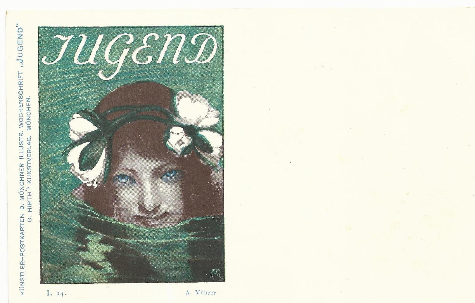 CPA - ART NOUVEAU - ILL. MUNZER- SERIE JUGEND I.24 - NON ECRITE - TBE - Illustrateurs & Photographes