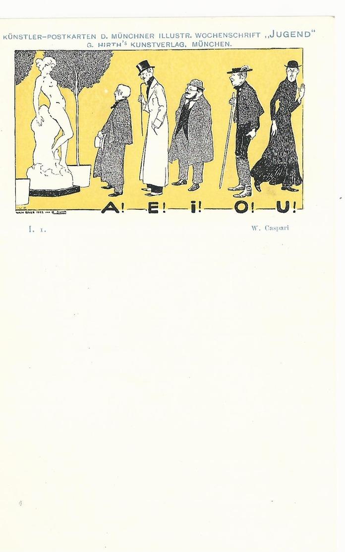 CPA - ART NOUVEAU - ILL. CASPARI - SERIE JUGEND I.1 - NON ECRITE - TBE - Autres Illustrateurs