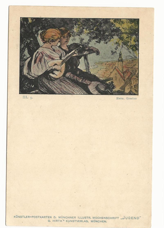 CPA - ART NOUVEAU - ILL. GROEBER - SERIE JUGEND III.9 - NON ECRITE - TBE - Ilustradores & Fotógrafos