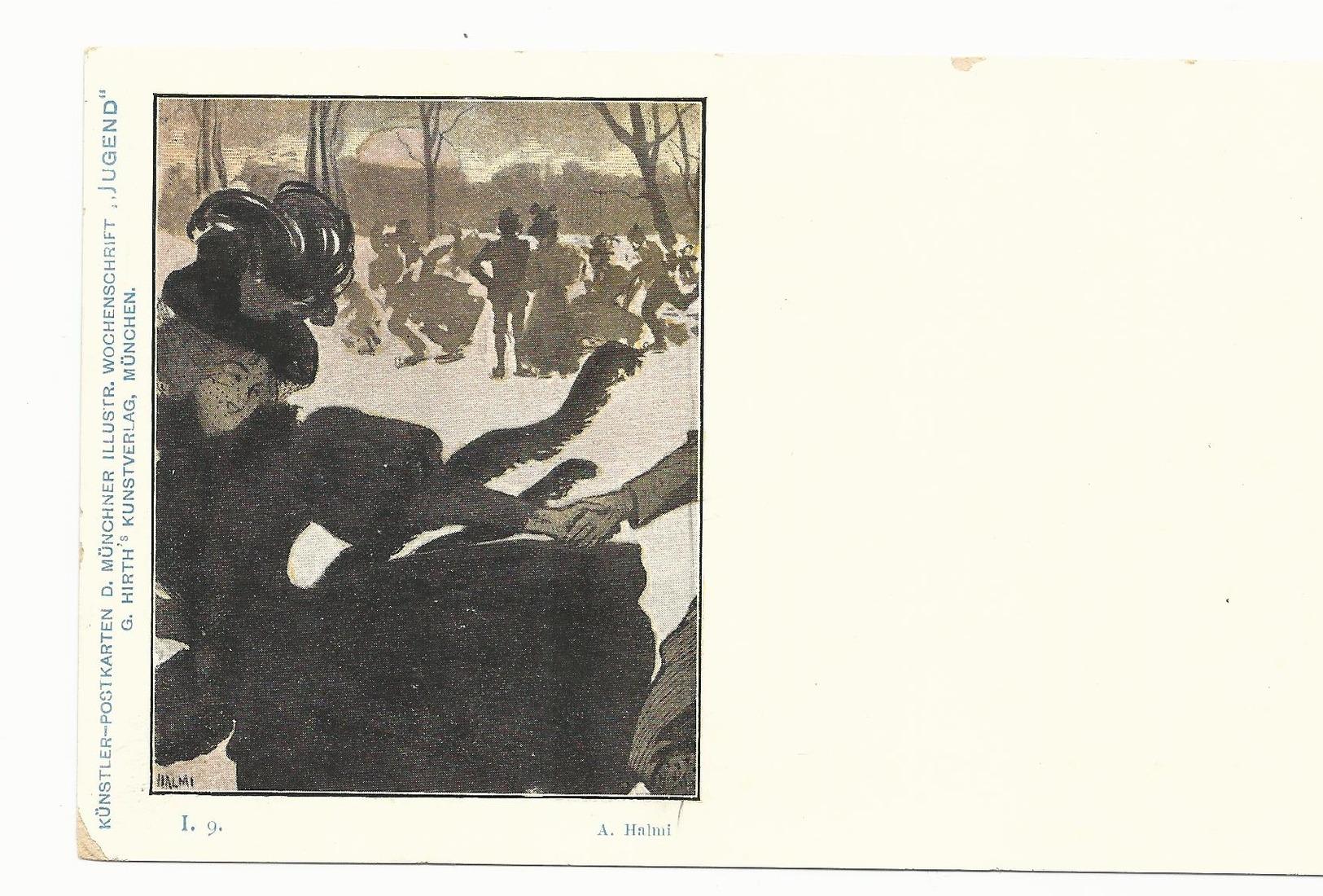 CPA - ART NOUVEAU - ILL. HALMI - SERIE JUGEND I.9 - NON ECRITE - TBE - Autres Illustrateurs