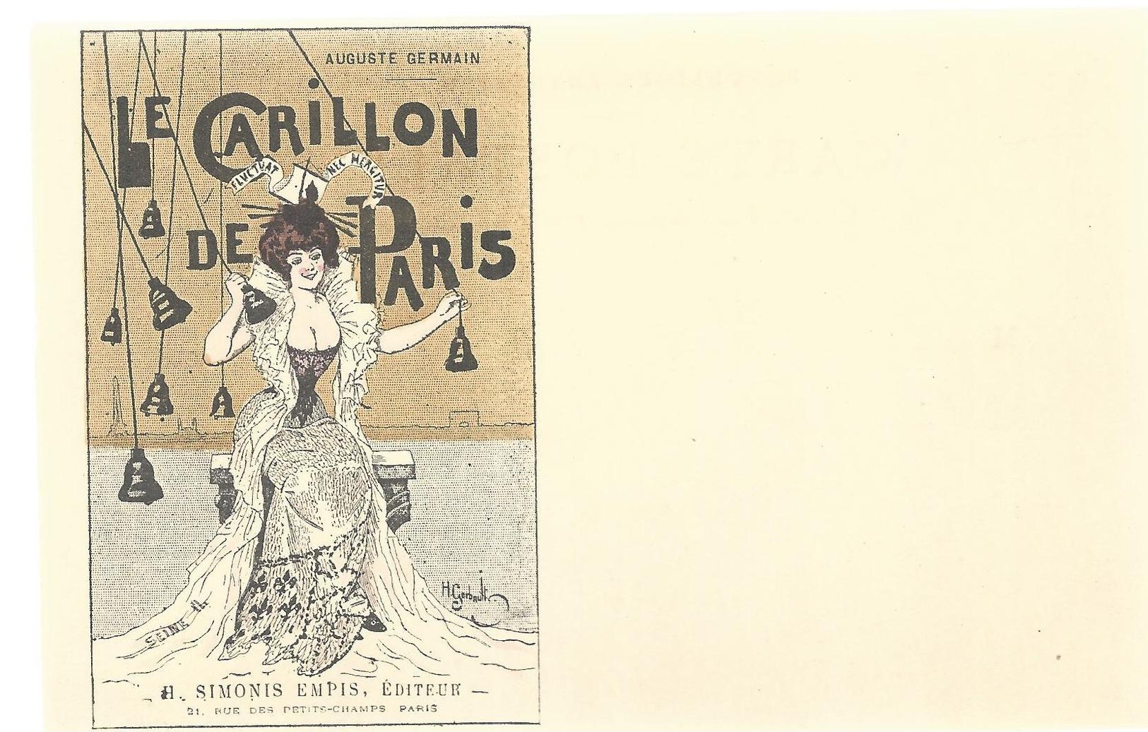 CPA - SERIE SIMONIS EMPIS - LE CARILLON DE PARIS - NON ECRITE - TBE - Künstlerkarten