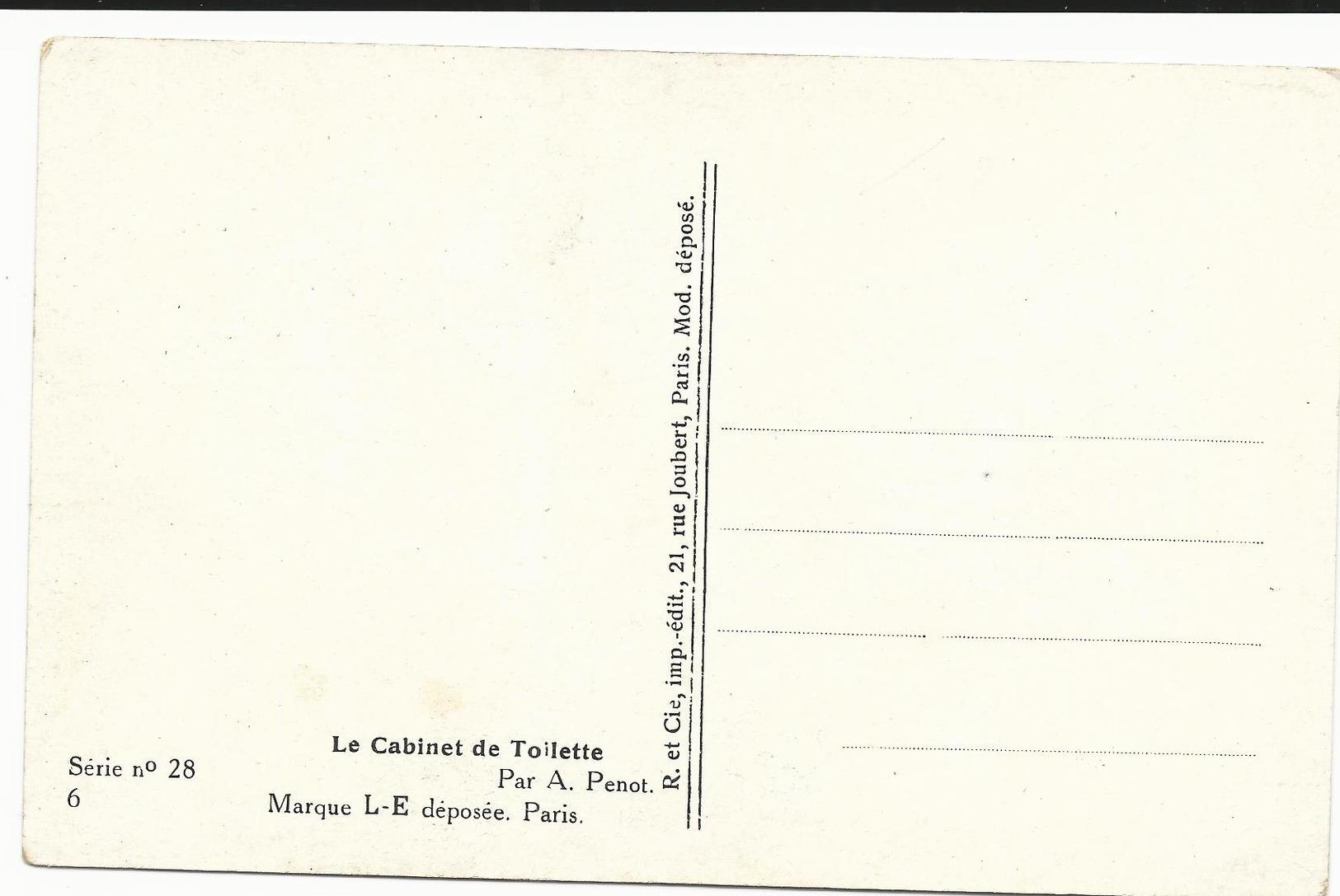 CPA - EROTIQUE - ILL. PENOT - LE CABINET DE TOILETTE - SERIE N°28 6 - NON  ECRITE - TBE - Ilustradores & Fotógrafos