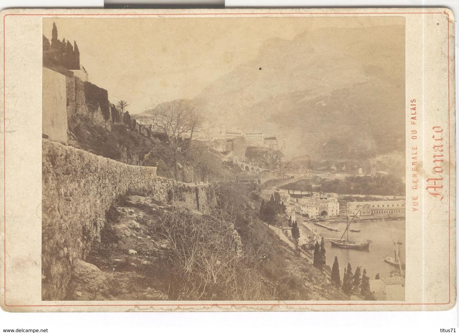 Photo Originale Sur Albuminé Monaco - Vue Générale Du Palais 11 X 16,5 Cm - Photographs