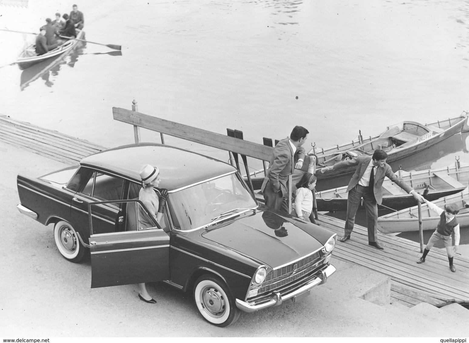 """D9290 """"FIAT 1500 FINE ANNI 50 DEL XX SECC"""" FOTO SU CART. LUCIDA - AGFA. ANIMATA, MURAZZI DEL PO -TO - Automobili"""