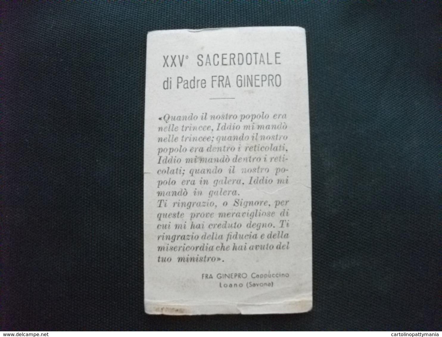 SANTINO HOLY PICTURE IMAGE GESU' CROCEFISSO XXV SACERDOTALE - Religione & Esoterismo