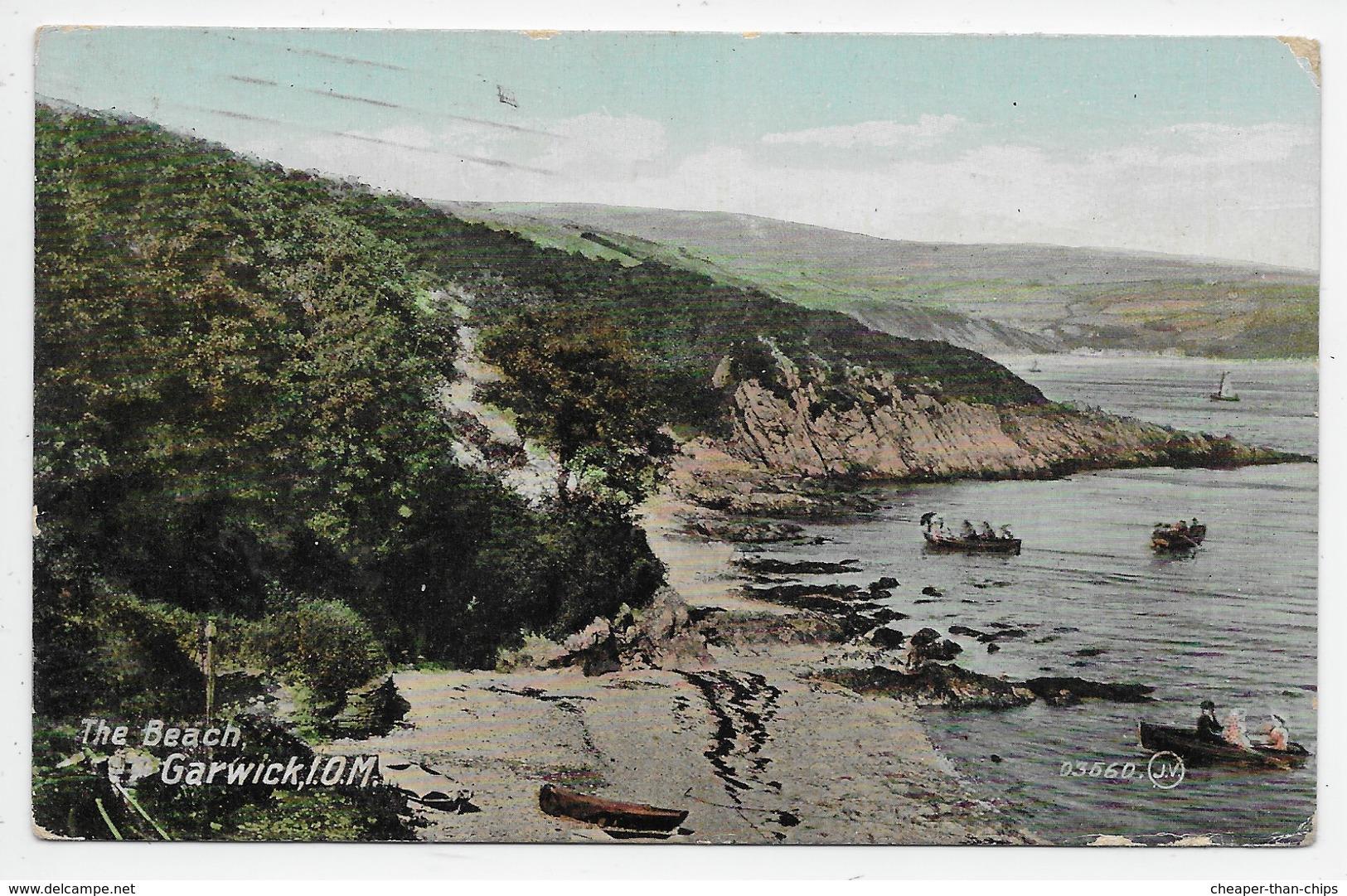 The Beach, Garwick, I.O.M. - Valentine Souvenir Series 03660 - Isle Of Man