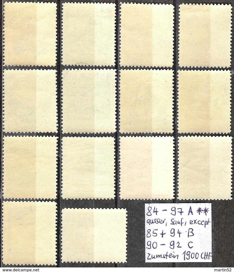 """Liechtenstein 1930: """"Kosel-Serie"""" Zu 84-97 Mi 94-107 Yv 94-107 ** Postfrisch MNH  (Zu CHF 1560.00 Mi 1460.00 Euro) - Liechtenstein"""
