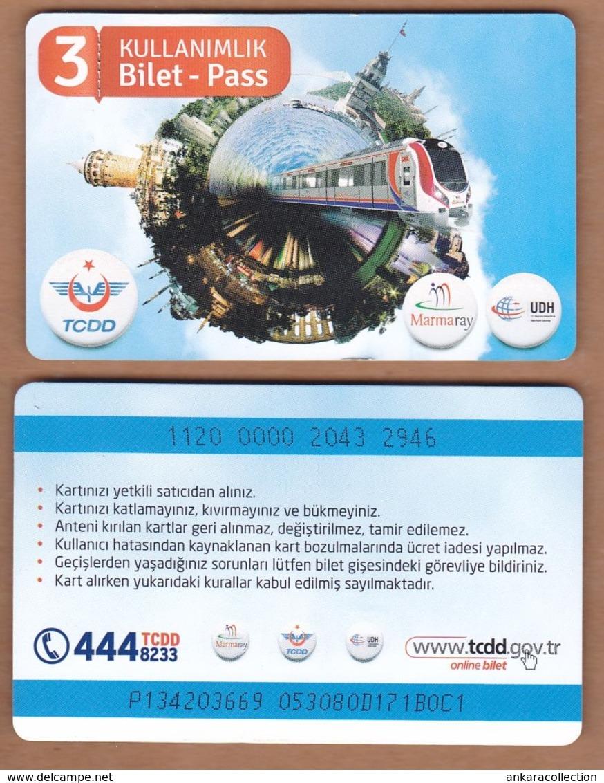 AC - TRIPLE RIDING MARMARAY METROCARD ISTANBUL, TURKEY - Transporttickets