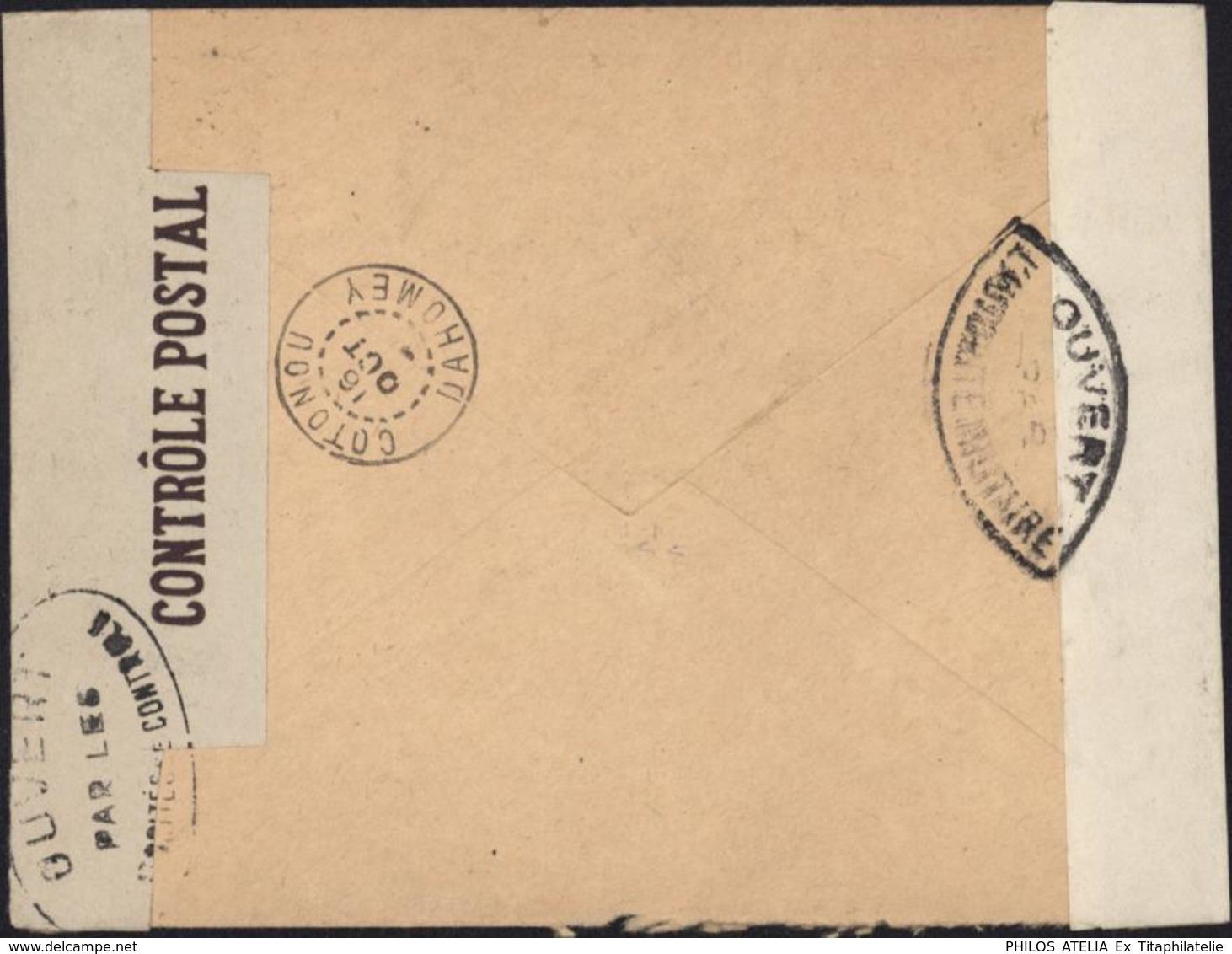 Censures Bande Contrôle Postal Militaire + Ouvert Autorité Militaire + Contrôle Postal Commission A Cameroun - Guerre De 1939-45